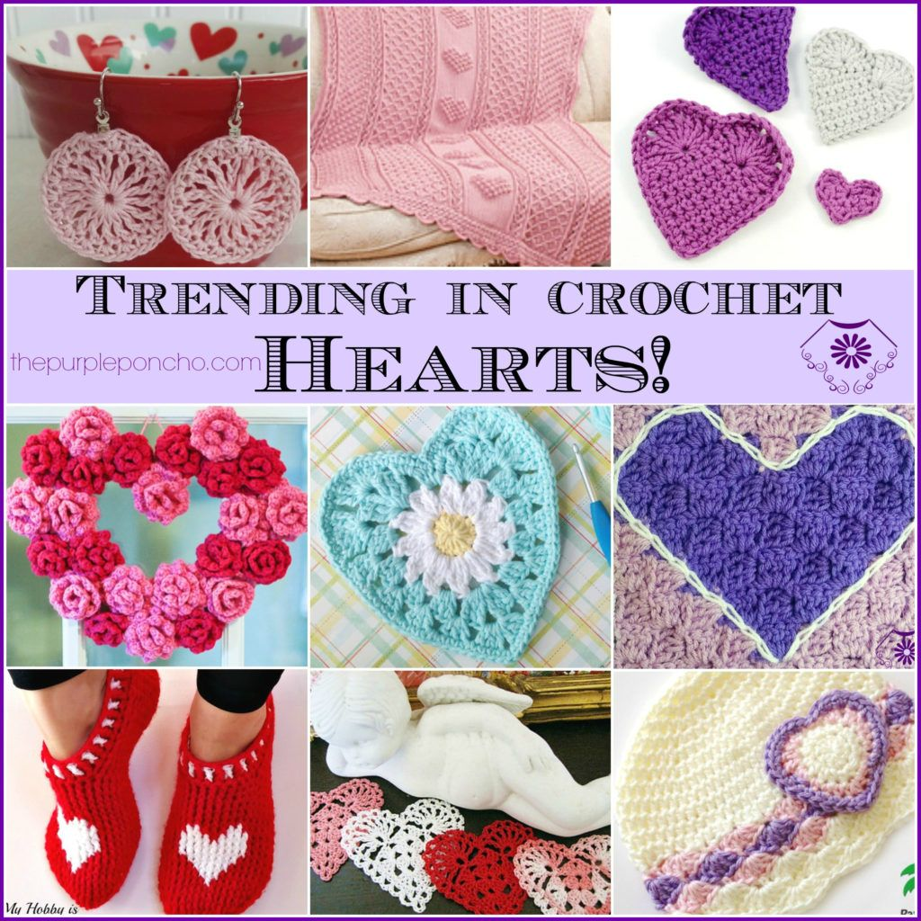 Trending In Crochet – Hearts! on The Purple Poncho featuring Jewelry ...