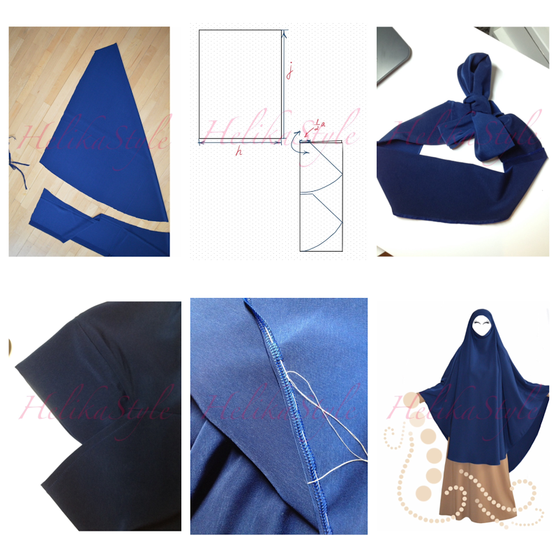 How To Sew Khimar Poncho Very Long Khimar Fashion Sewing Pattern Fashion Sewing Sewing Tutorials