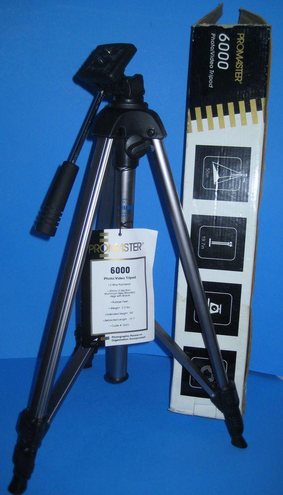 TRIPOD Promaster 6000 Photo/Video 3243 Lightweight EUC IOB #Promaster