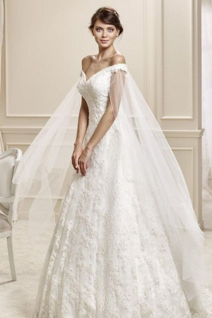 outlet abiti da sposa, modello a-line tessuti utilizzati raso pizzo ...