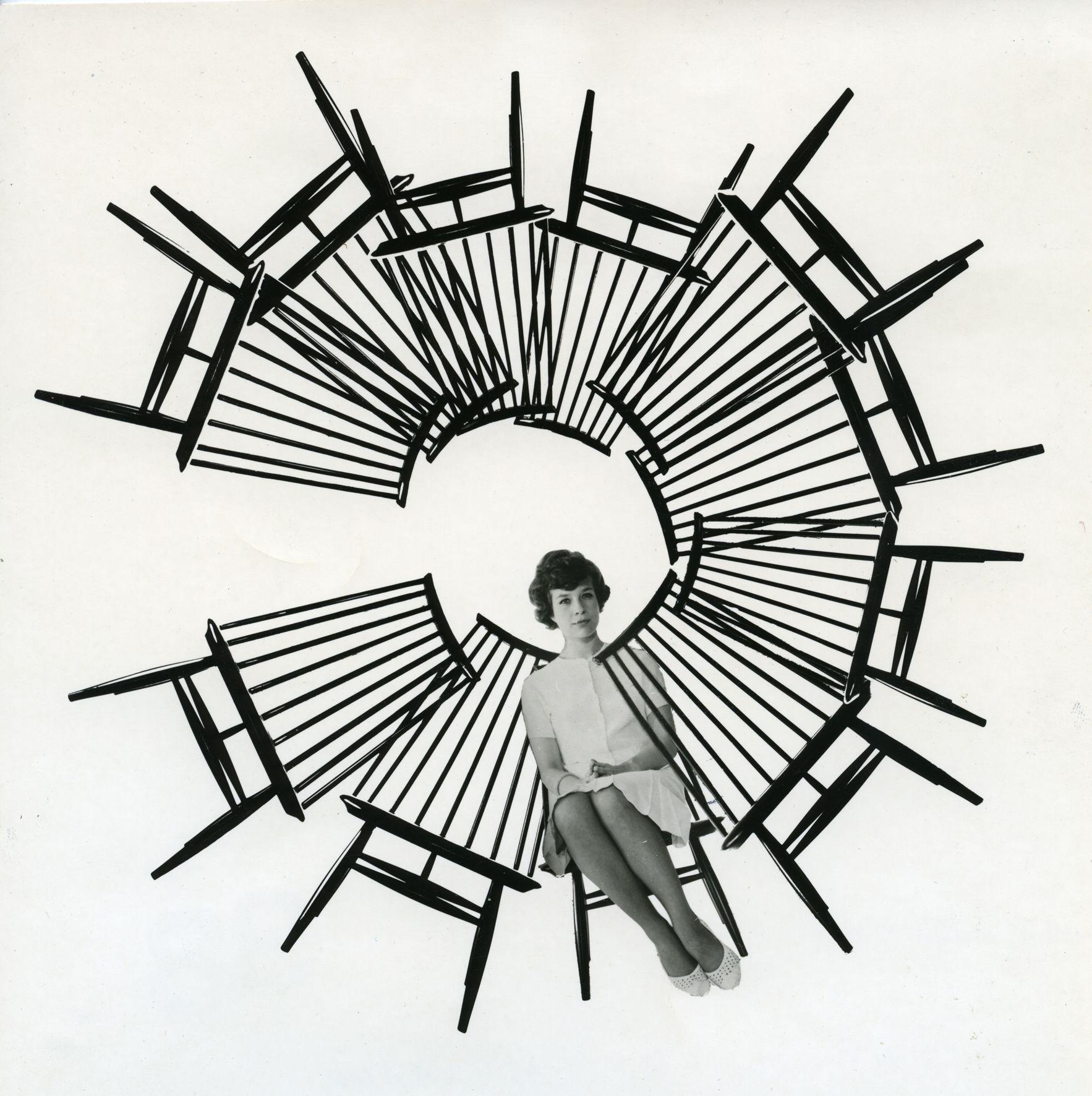 Ilmari Tapiovaara   Designmuseo,  Tuoli/stol/chair Mademoiselle, 1956.