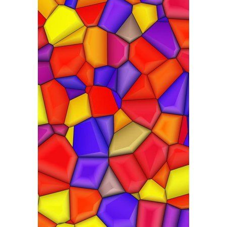 Diabetic Log Book : Portable Blood Glucose Chart, Daily Diary, Small Notebook 6 X 9, 190 Pages, Stained Glass