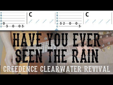 Have You Ever Seen The Rain Guitar Tutorial Ccr Easy Guitar