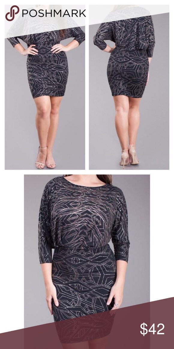 Plus Size Shimmer Glittering Dress Boutique My Posh Picks