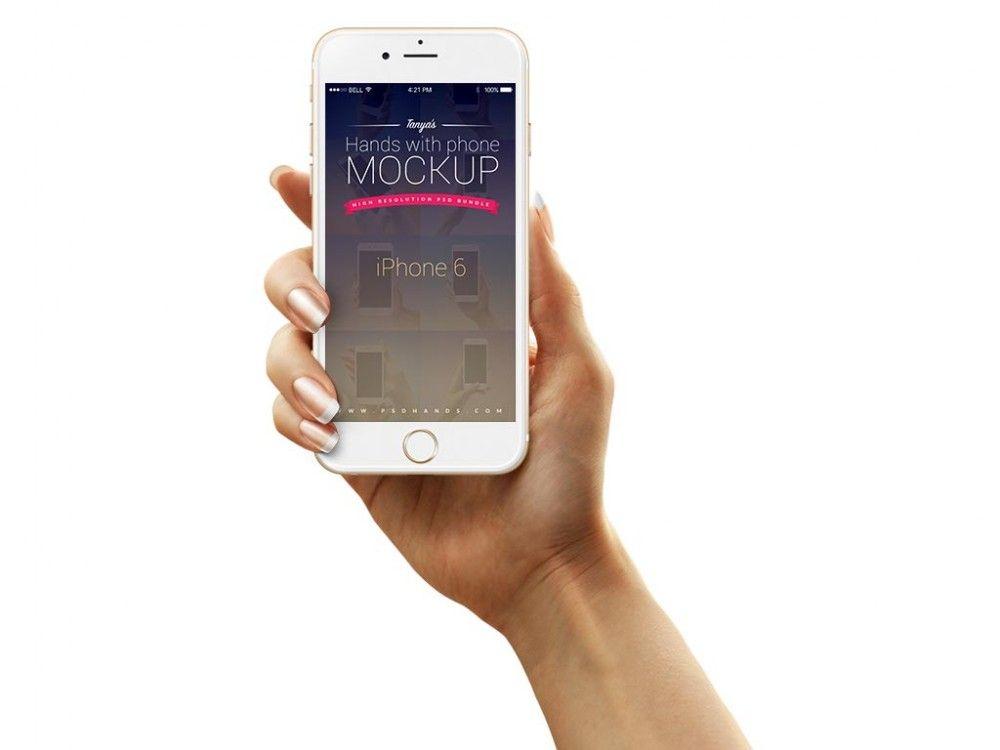 Iphone In Female Hand Mockup Mockupworld Iphone Phone Mockup Templates