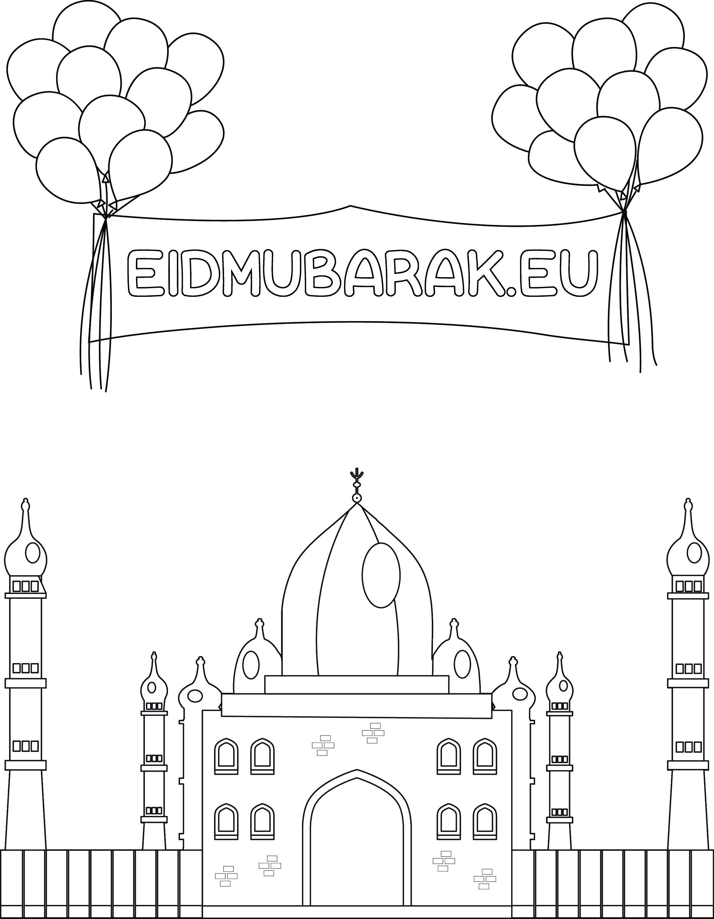 Eid Mubarak Kleurplaat Eid Mubarak Ramadan Knutselen Ramadan Activiteiten
