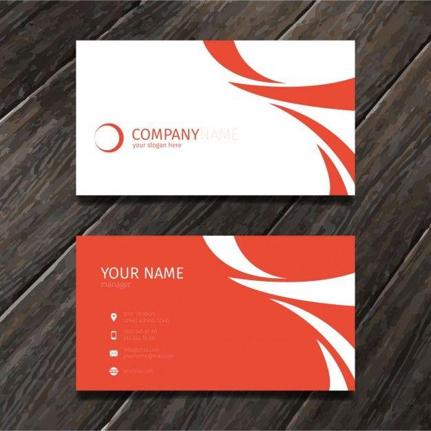 Lade Red Minimal Abstrakte Geschaftskarte Tempate Kostenlos Herunter Business Card Maker Vector Business Card Visiting Card Design