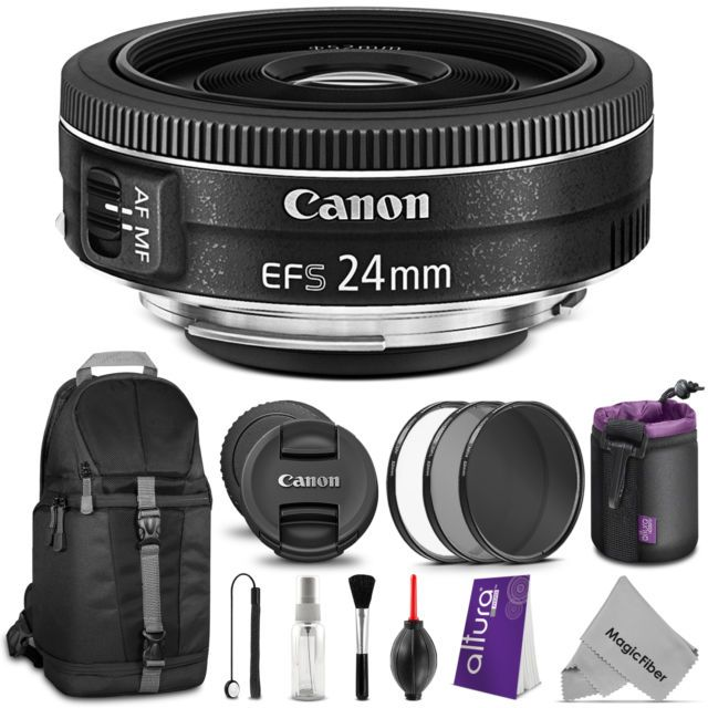 Canon Ef S 24mm F 2 8 Stm Lens Uv Cpl Nd Filter Kit Free Accessories Lens Pouch Camera Cleaning Digital Camera Lens