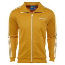 6fb989810e37 Adidas Originals Beckenbauer Track Top Mens BR6951 Tactile Yellow Jacket  Size M