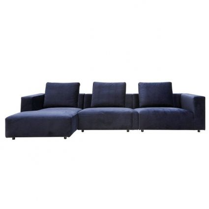 Carmel 3 seater sofa with chaise u2013 Lounge sofa - ID Design - designer ecksofa lava vertjet
