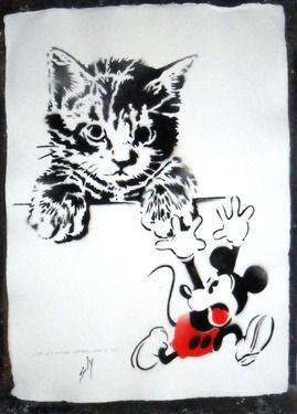 "Saatchi Online Artist Sly Juan; Painting, ""Cat and Mouse Games. Special Edition -/75"" #art"