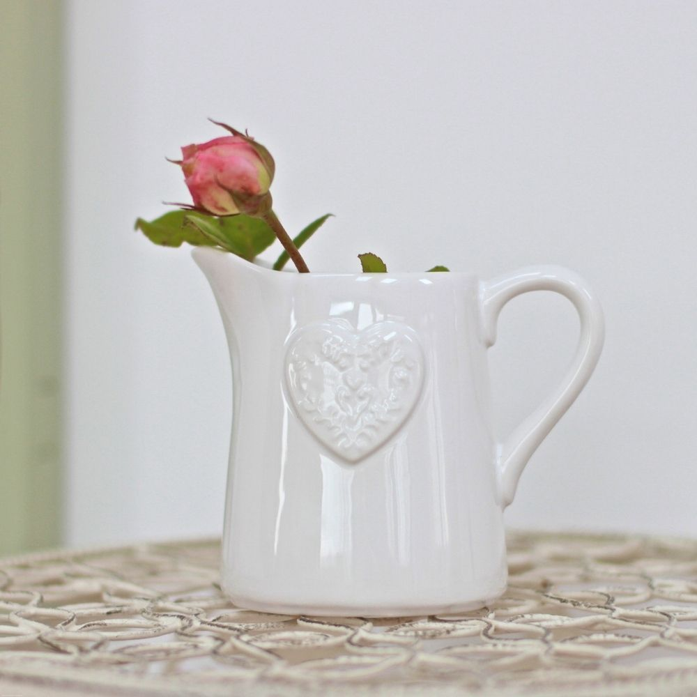 Bless this jug for its sweetness. Fill with a small tied posy or a single flower and put it by your bed or favourite reading spot. Alternatively fill with milk and pop on to the breakfast table! Dimensions: 10cm