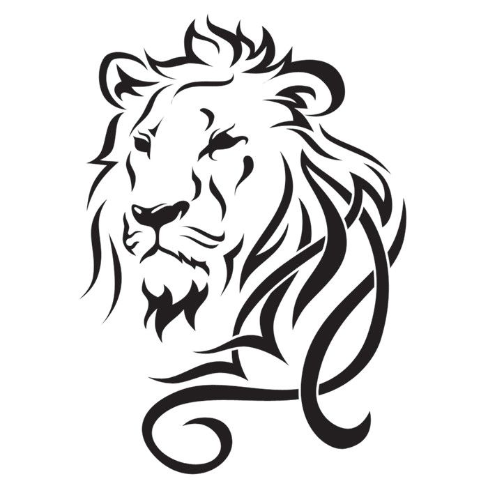 Home 187 All Products 187 King Me Temporary Tattoo Tribal Lion Tattoo Lion Tattoo Design Tribal Lion