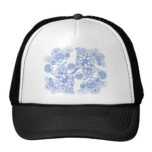 Lovely and hypnotic, this beautiful periwinkle floral, botanical design will surely catch eyes.  See more at www.tribalstyledesign.com or www.zazzle.com/tribalstyledesign #zazzle #zazzlemade #fashionablehats #hatsforher