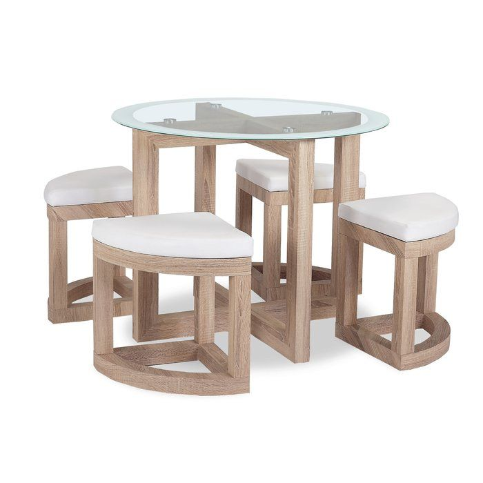 Homestead Living Freddie Dining Set with 4 Chairs in 2019