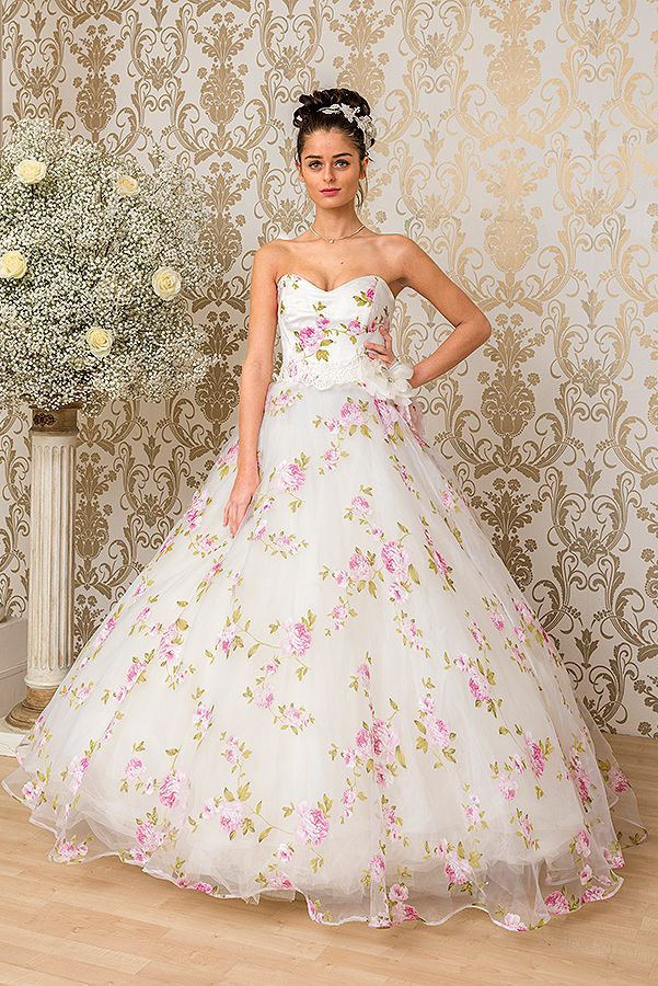 Mojgan Wedding Dresses Flora Pink 1