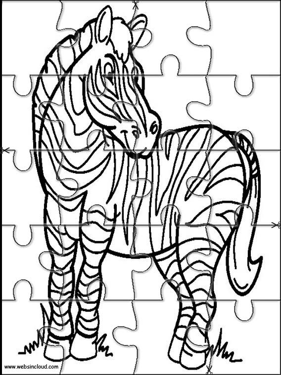printable jigsaw puzzles to cut out for kids animals 15 coloring pages