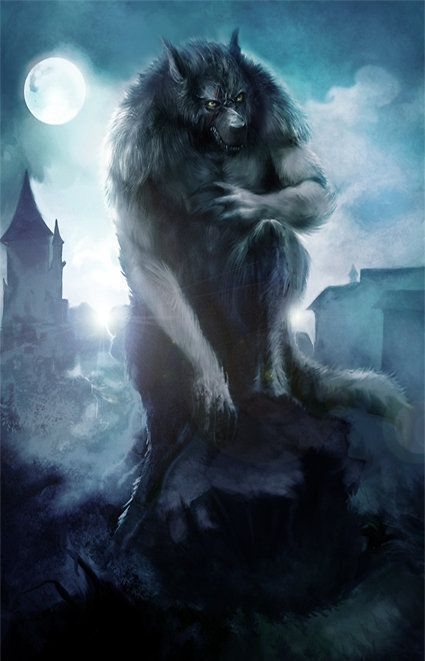 The White Wolfmen appear as humanoid wolves as big as a horse ...