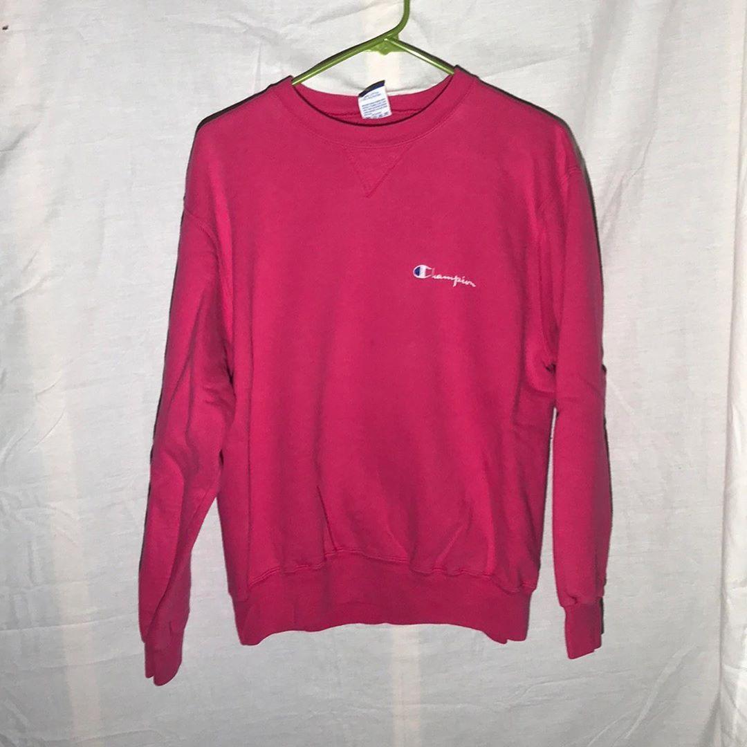 90s Champion Hot Pink Crewneck Sweatshirt 45 Theflipstas Polo Poloralphlauren Ralphlauren Pink Crewneck Sweatshirt Coogi Sweater Long Sleeve Tshirt Men [ 1080 x 1080 Pixel ]