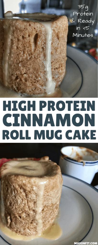 Healthy Cinnamon Roll Mug Cake: A High Protein Cinnamon Roll Fix