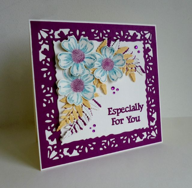 CC619 Guest Designer Sample- Sandie\u0027s card Tuesday Color Challenge - Sample Cards