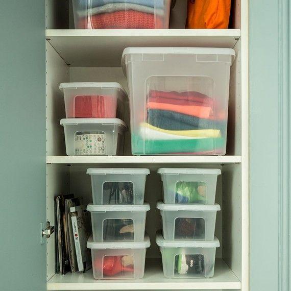 Boîte de rangement à chaussures en plastique transparent avec couvercle. (XS)   Boite plastique ...