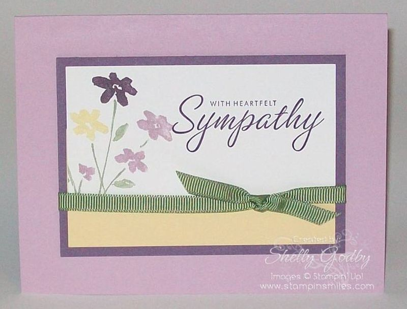 Card Making Ideas Sympathy Part - 16: Stampin Up Sympathy Card Ideas | Sympathy Card Idea With Stampinu0027 Up! Close  As