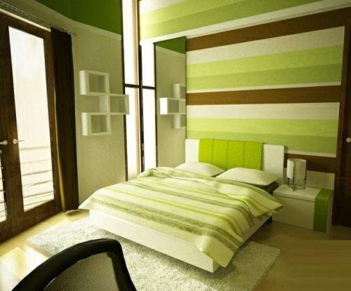 Fantastisch Grüne Wanddeko Im Schlafzimmer