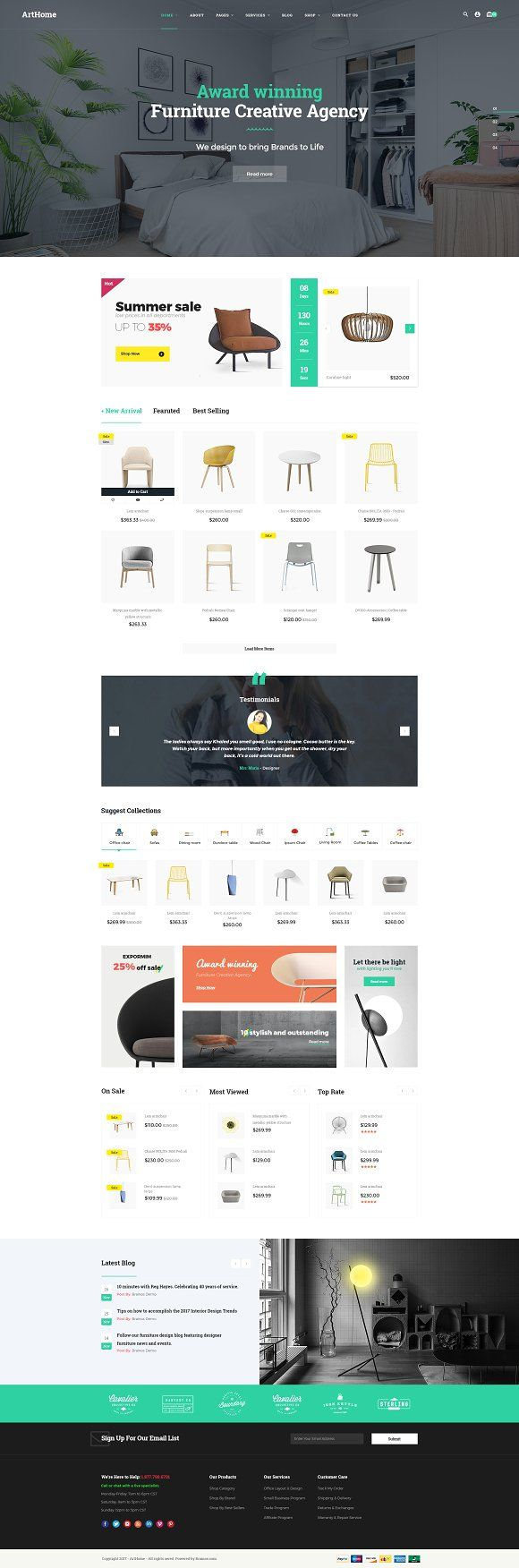 Arthome Theme by Opal Wordpress Theme on