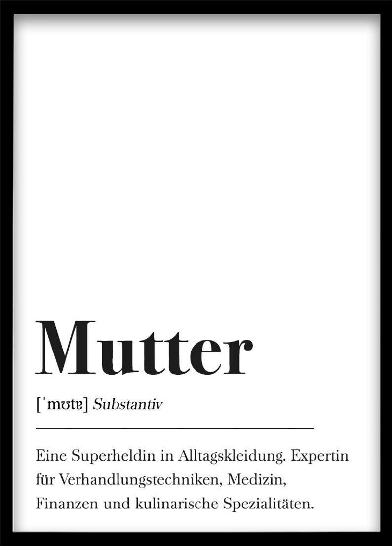 Mutter Definition, Geschenk für Mama, Weihnachtsgeschenk Familie, Plakat Wörterbuch, Poster mit Text, Skandinavisch Schwarz Weiß #textefürweihnachtskarten