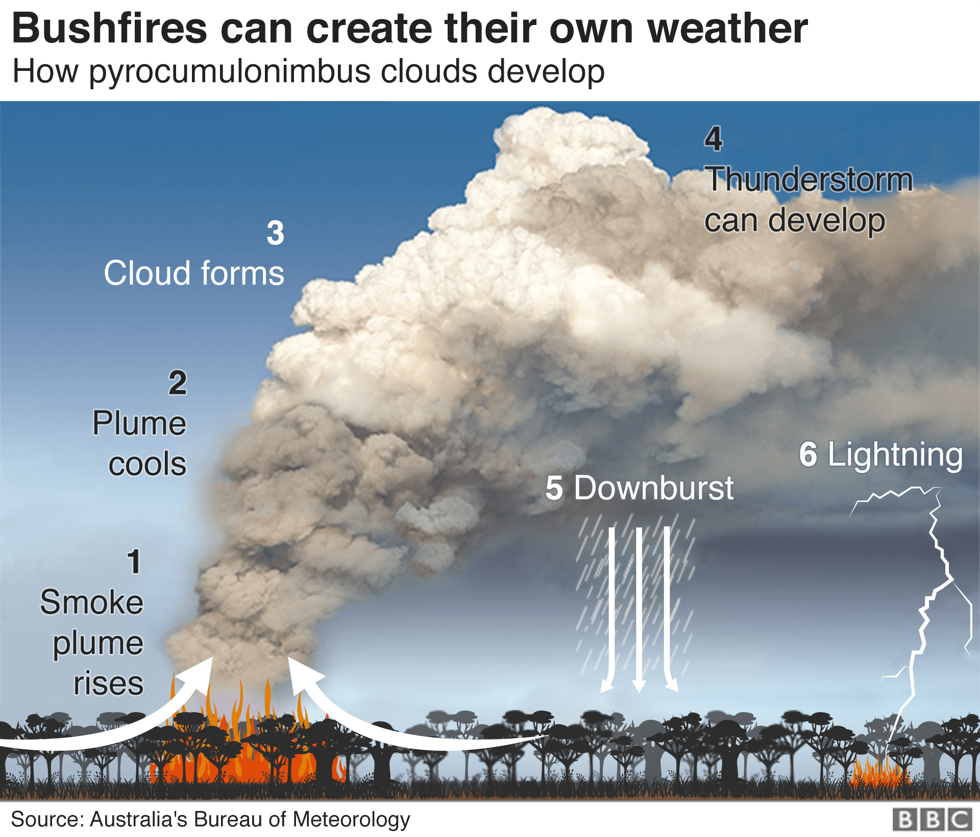 A visual guide to Australia's bushfire crisis in 2020