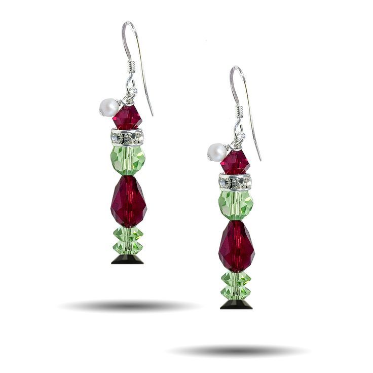 The Grinch Christmas Earring Kit - Christmas jewelry diy, Christmas jewelry, Christmas earrings, Earring kit, Jewelry kits, Holiday jewelry - The perfect gift for the Grinch on your list! Our Grinch Christmas Earring Kit is made from head to toe out of Genuine Swarovski Crystal, combined with  925 Sterling Silver Findings  Each of or Holiday Kit contains materials to complete 1 set of earrings