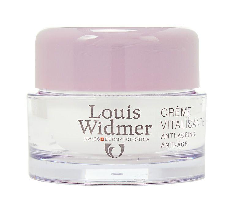 Louis Widmer Vitalizing Cream, 22,75 €. Hajusteeton yövoide kuivalle iholle. Sisältää a- ja e-vitamiinia sekä pantenolia. Tuote uudistaa ja kosteuttaa ihoa. Norm. 32,51 €. Apteekki Töölö, E-taso