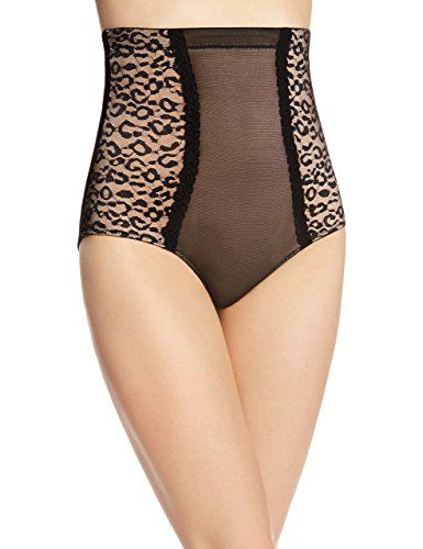 9356d9ced3015 Heavenly Shapewear Women s High Waist Leopard Lace Control Brief Panty   Amazon.ca  Clothing   Accessories