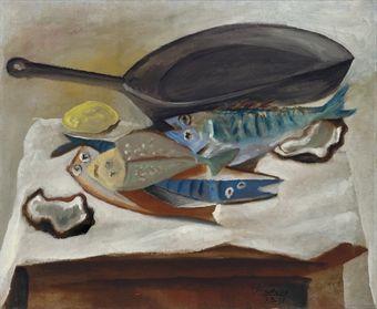 Nature morte. Poissons et poêle, 1914 by Pablo Picasso | Cubism ...