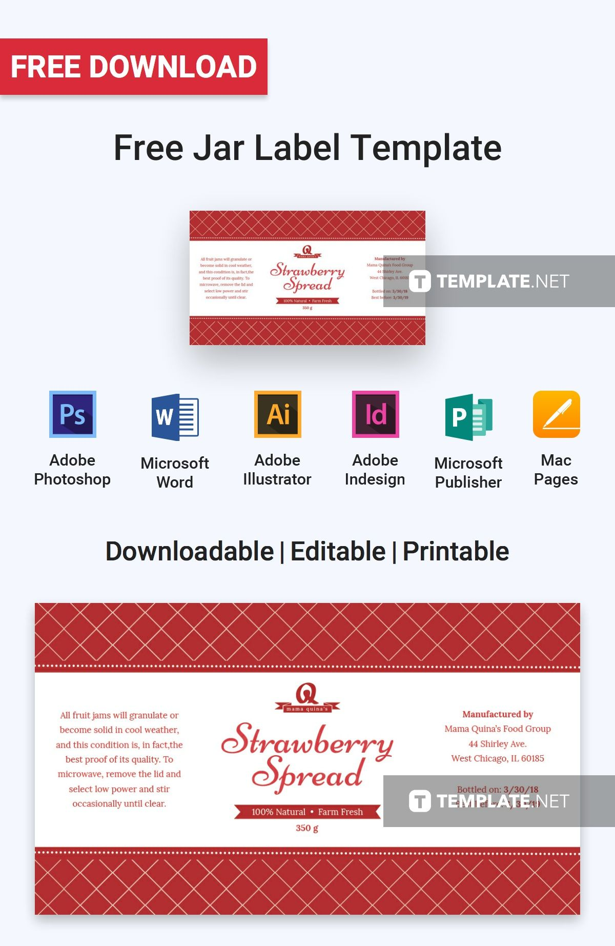 free jar label free label templates pinterest label templates