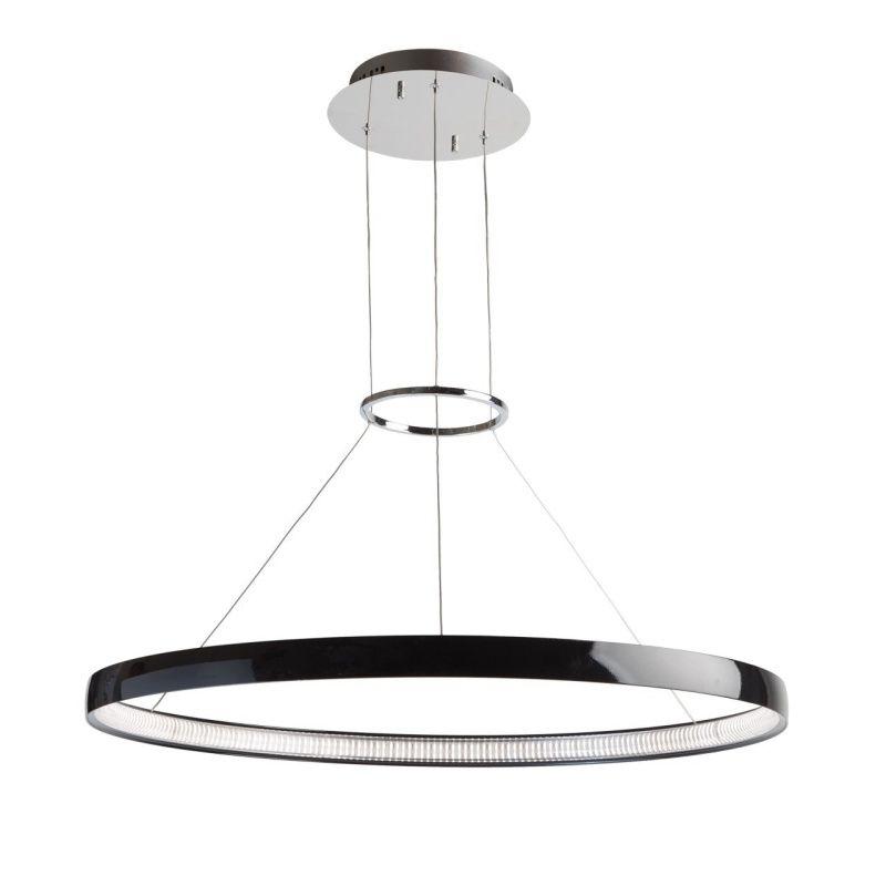 Moderne schwarze LED Pendelleuchte Techno 1-flammig RegenBogen