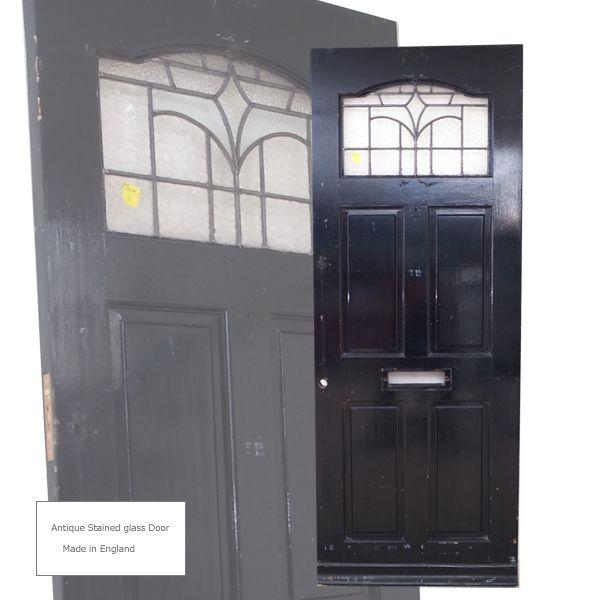 Kag59 イギリスアンティーク ステンドグラスドア扉 間仕切 12 126000