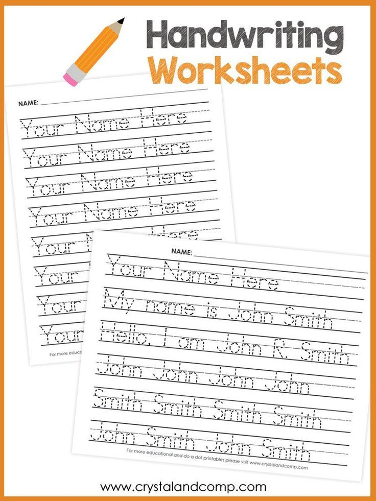 Handwriting Worksheets for Kids (You Can Customize and