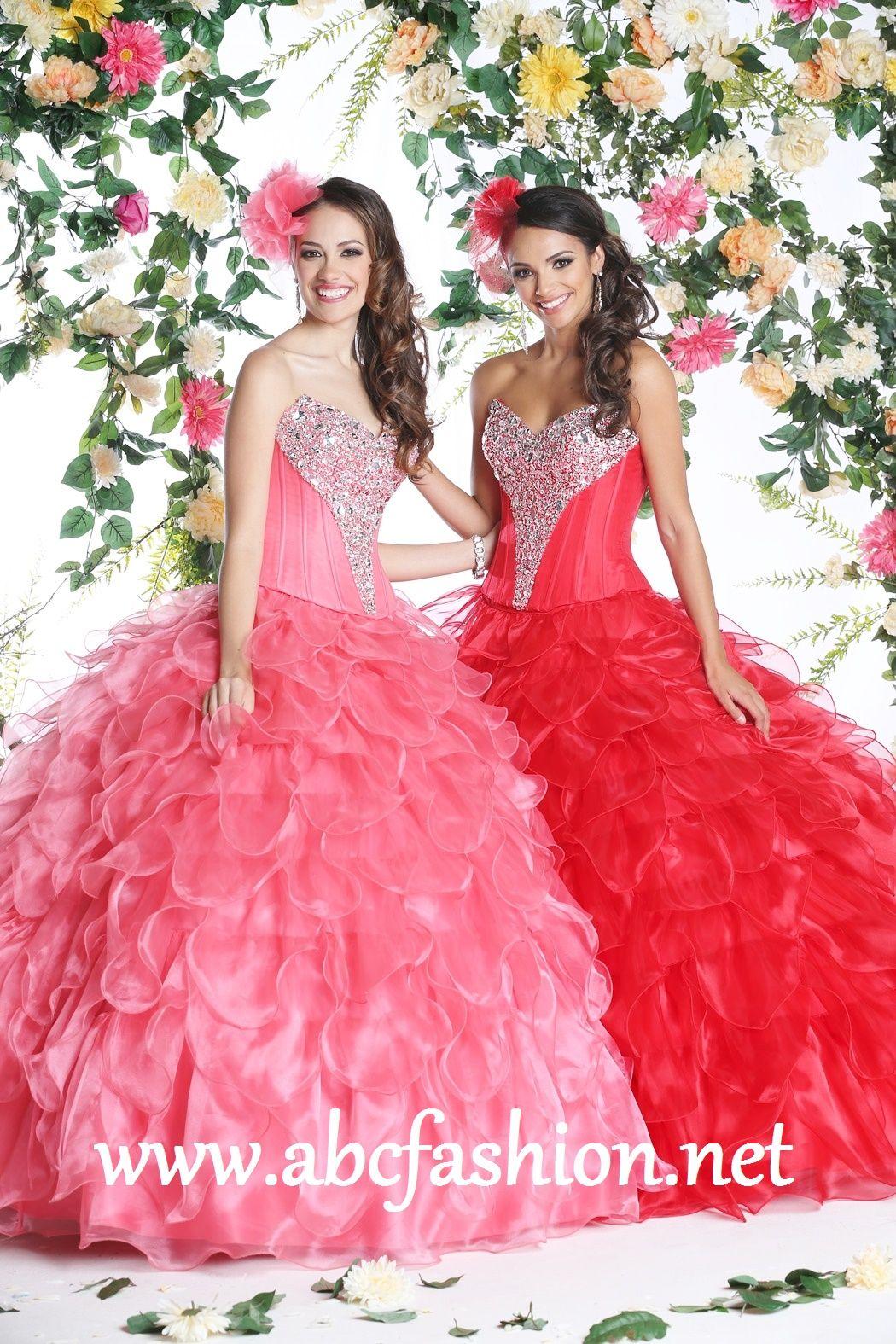 Da Vinci Quinceanera Dresses Style 80257 Colors: Red, Melon http ...