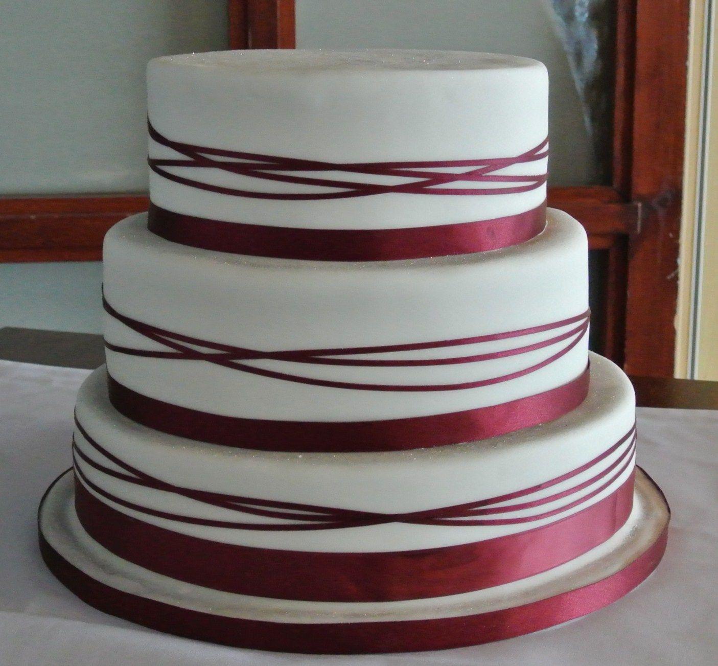 Wedding cake with ribbon wedding pinterest wedding cake cake