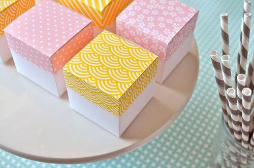 diy favor boxes {print it}