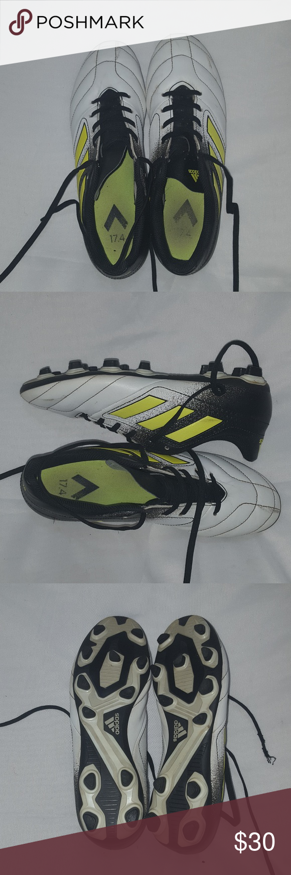 best service 76acd fd9f4 adidas Ace 17.4 FXG Mens S77090 NEW Adidas Ace 17.4 FXG Soccer Cleats -  S77090 -