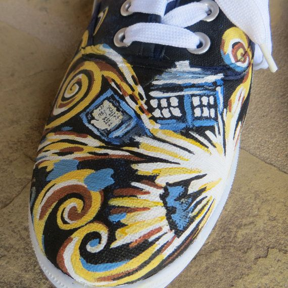 Hand Painted Shoes - Dr. Who