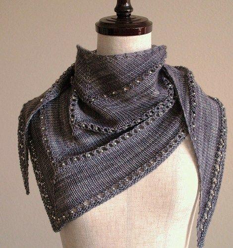 вязание скандинавского платка