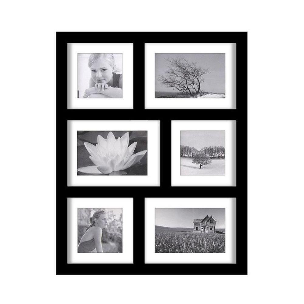 19 in. H Manhattan Black 6-Opening Collage Picture Frame