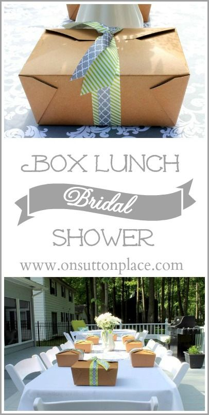 Box Lunch Bridal Shower | Box lunches, Bridal showers and Lunches