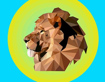 """Check out new work on my @Behance portfolio: """"Low Poly - Lion """" http://on.be.net/1XsDTPB"""