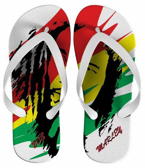 Chinelo Bob Marley Personalizado