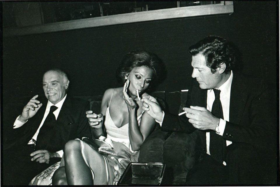 Marcello Mastroianni, Carlo Ponti e Sophia Loren